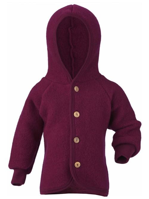 Jachetă fleece lână merinos - Engel - Berry Melange