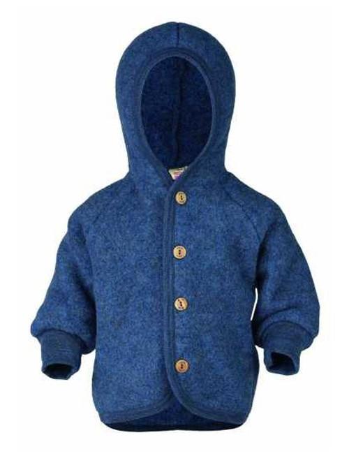Jachetă fleece lână merinos - Engel - Blue Melange