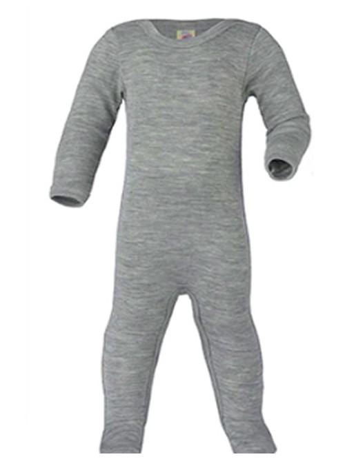 Pijamale din lână merinos și mătase - Engel - Light Grey