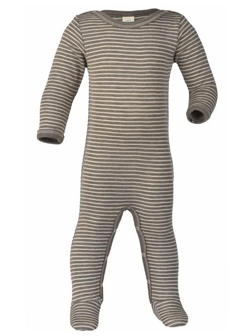 Pijamale din lână merinos și mătase - Engel - Walnut/Natural