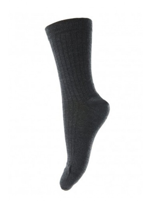 Șosete subțiri lână Wool Rib - mp Denmark  - Dark Grey