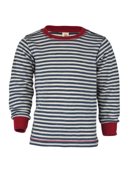 Bluză cu mânecă lungă și manșete - Engel - Albastru/Roșu/Alb