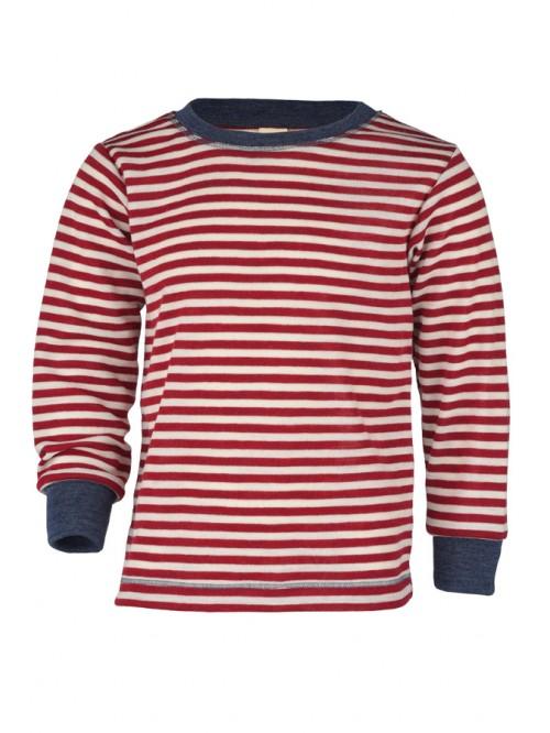 Bluză cu mânecă lungă și manșete - Engel - Roșu/Albastru/Alb