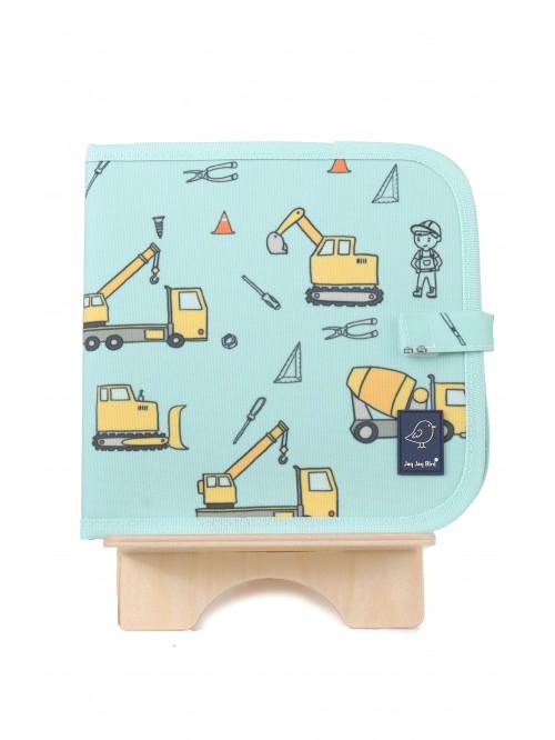 Carte de colorat refolosibilă - Construcții - Color It & Go erasable book - Construction - Jaq Jaq Bird