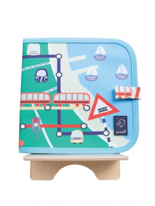 Carte refolosibilă pentru desen Tren - Doodle It & Go erasable book - Train - Jaq Jaq Bird