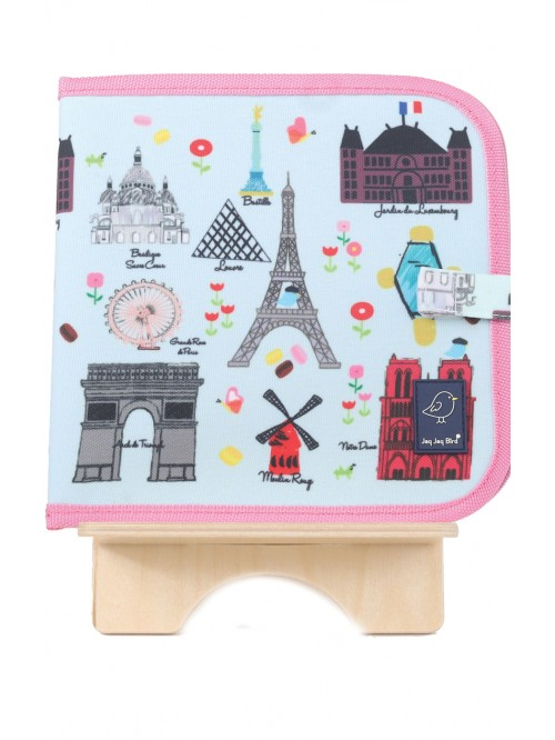 Carte refolosibilă pentru desen - Paris - Doodle It & Go erasable book - Paris - Jaq Jaq Bird