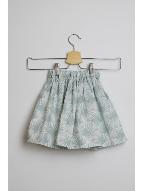Fustă bumbac organic - Milutko Kids - Eucalyptus Skirt
