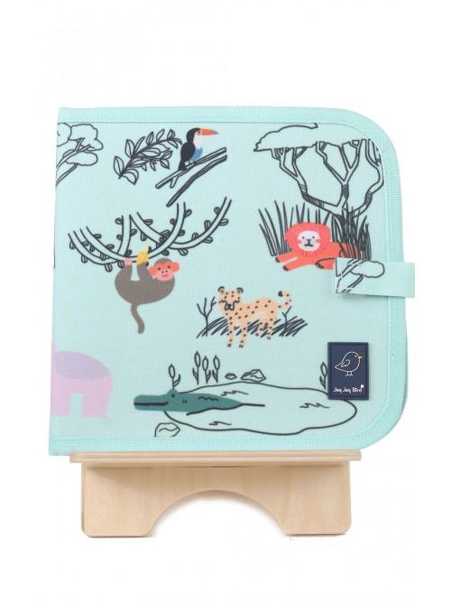 Carte de colorat refolosibilă - Safari- Color It & Go erasable book - Safari - Jaq Jaq Bird