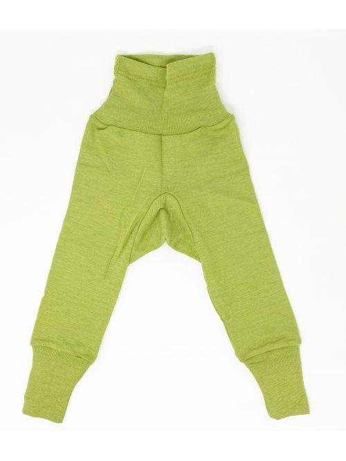 Pantaloni din lână și mătase - Cosilana - Green