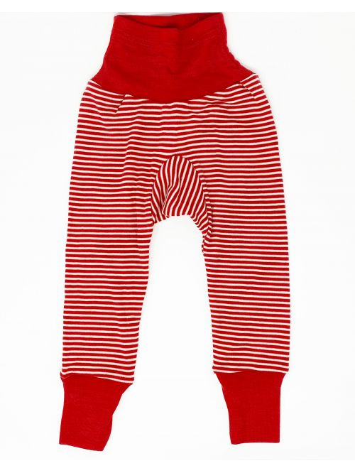 Pantaloni din lână și mătase - Cosilana - Red Stripes