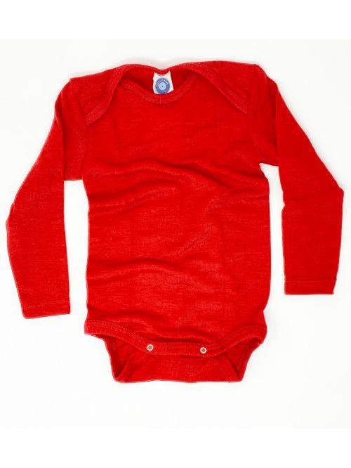 Body din lână merinos și mătase - Cosilana - Red