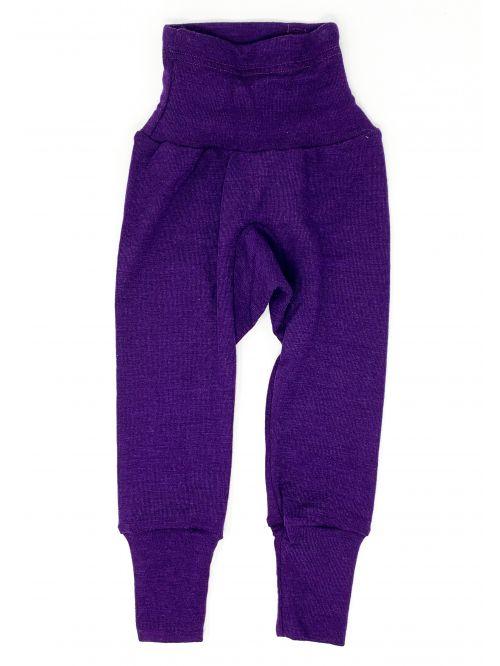 Pantaloni din lână și mătase - Cosilana - Plum