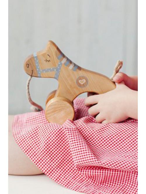 Jucărie de tras - Căluț - Friendly Toys - Blue Pull Horse Toy