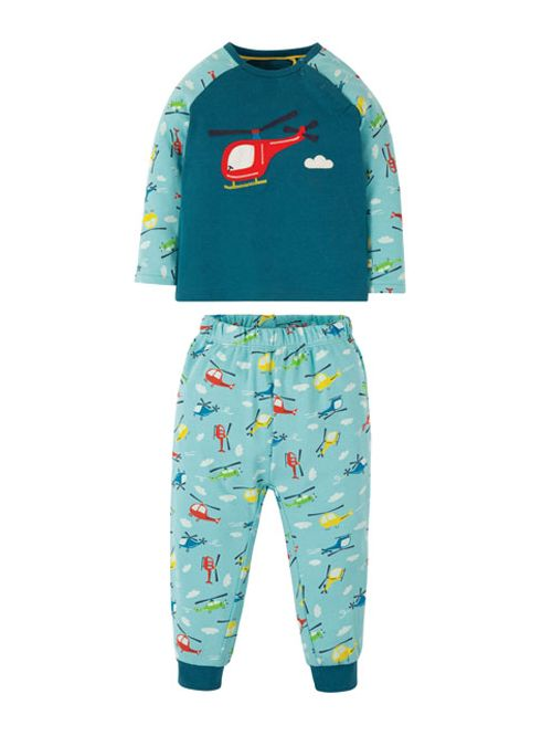 Pijamale - Frugi - Blue Helicopter