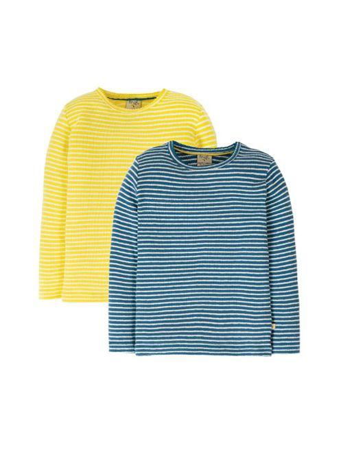 Set 2 bluze cu manecă lungă bumbac organic – Frugi - Pointelle Multipack
