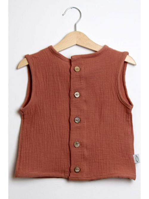 Bluză din muselină-  Milutko Kids - Coral Indian
