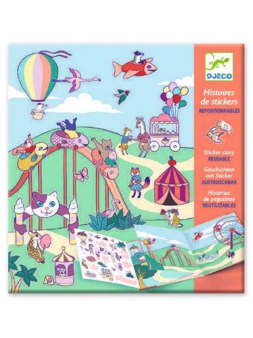 Planșe cu abțibilduri repozitionabile - Locul de joaca pentru copii - Djeco