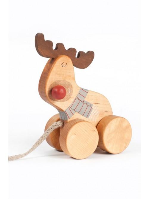 Jucărie de tras- Cerb - Friendly Toys - Pull Deer Toy