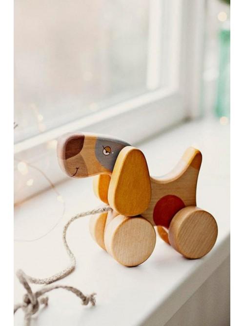 Jucărie de tras- Cățel - Friendly Toys - Pull Terrier Toy