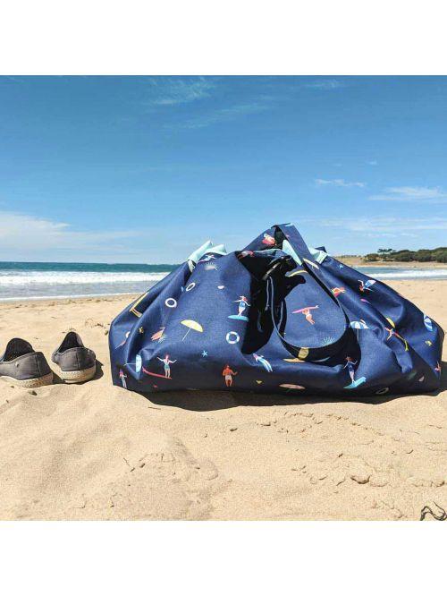 3 in 1 - Sac depozitare, transport jucării și saltea impermeabilă pentru exterior - Surf - Play & Go