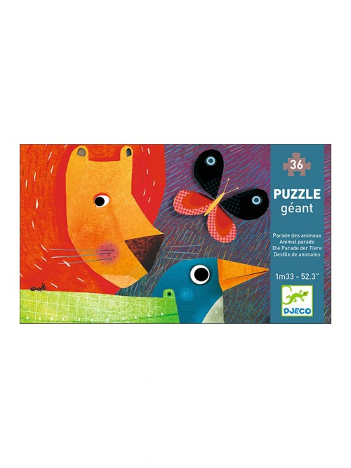 Puzzle gigant - Parada animalelor - Djeco
