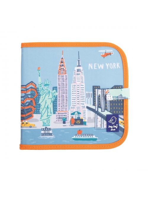 """Carte refolosibilă pentru desen/colorat - Colecția """"Cities of Wonder"""" - New York"""