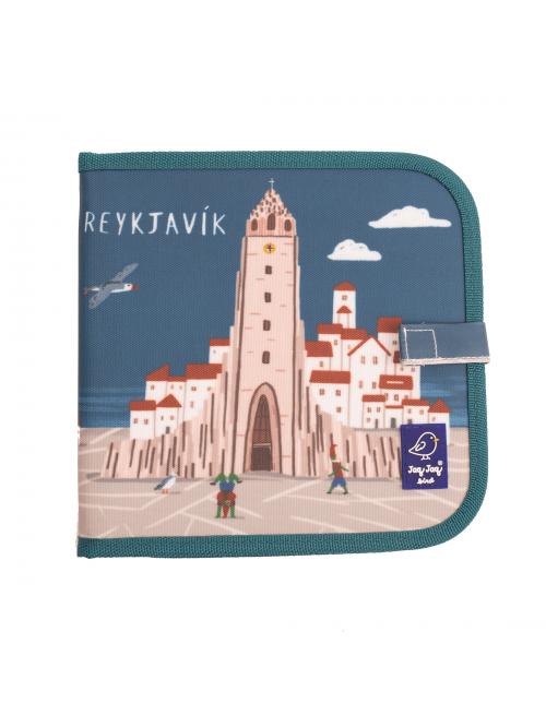 """Carte refolosibilă pentru desen/colorat - Colecția """"Cities of Wonder"""" - Reykjavik"""