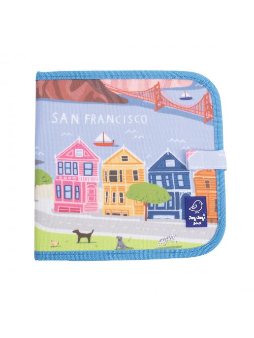 """Carte refolosibilă pentru desen/colorat - Colecția """"Cities of Wonder"""" - San Francisco"""