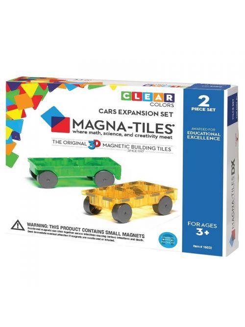 Magna-Tiles - Extensie 2 masinute magnetice