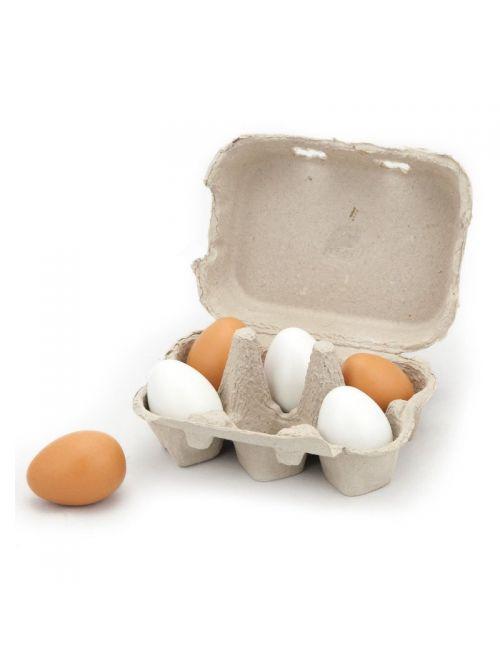 Set oua din lemn 6 buc. - Viga
