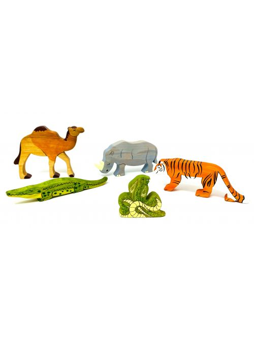 "Set figurine din lemn ""Cobra"" - Wooden Caterpillar"
