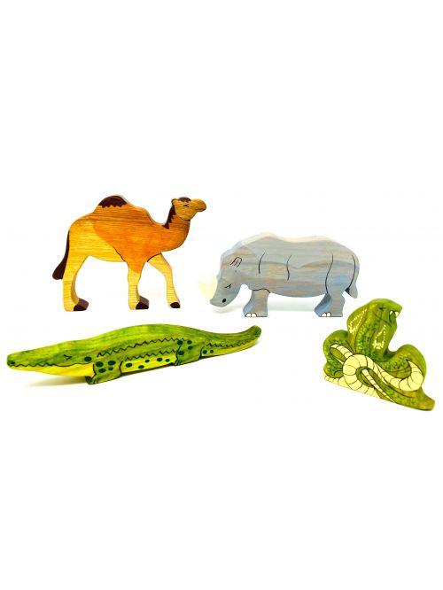 """Set figurine din lemn """"Camel"""" - Wooden Caterpillar"""
