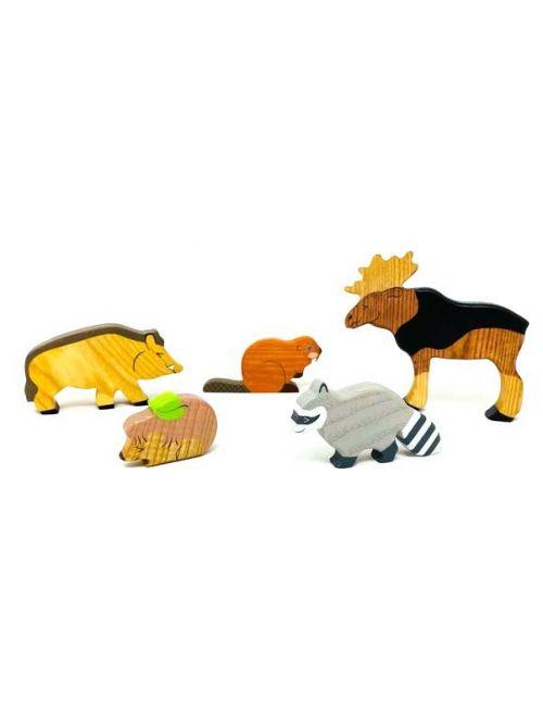 """Set figurine din lemn """"Moose"""" - Wooden Caterpillar"""