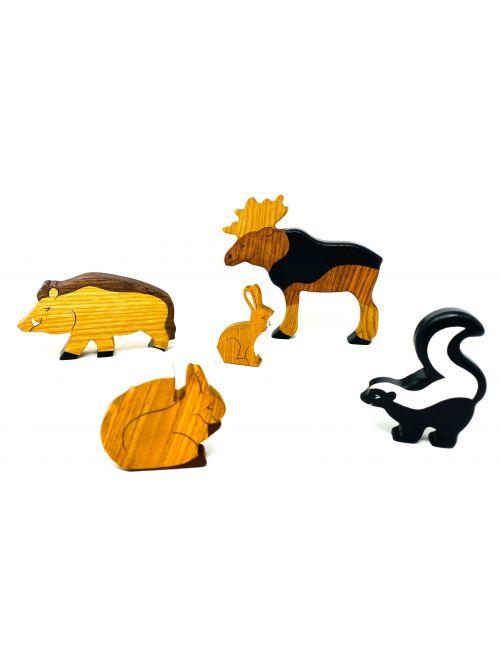 """Set figurine din lemn """"Squirrel"""" - Wooden Caterpillar"""