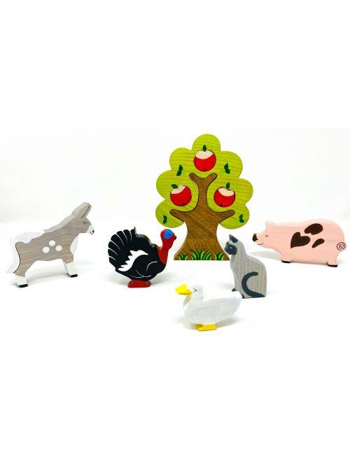 "Set figurine din lemn ""Donkey"" - Wooden Caterpillar"