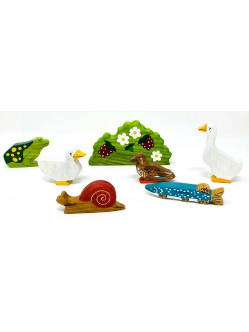"""Set figurine din lemn """"Ducks""""- Wooden Caterpillar"""