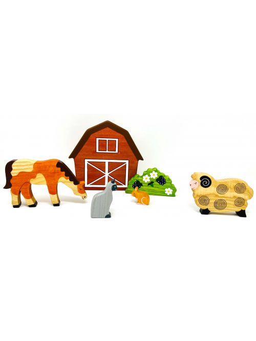 "Set figurine din lemn ""Mouse""- Wooden Caterpillar"