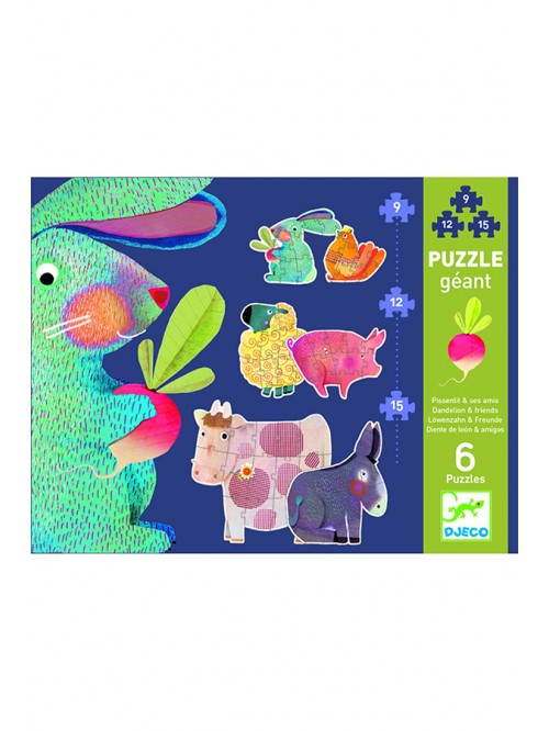 Puzzle progresiv - Djeco - Animale domestice