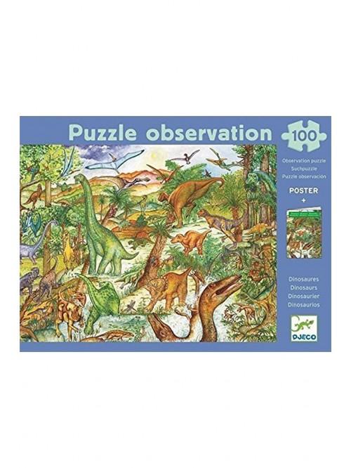 Puzzle de observație - Dinozauri -  Djeco