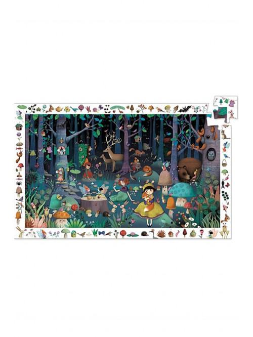 Puzzle de observație - Pădurea fermecată - Djeco