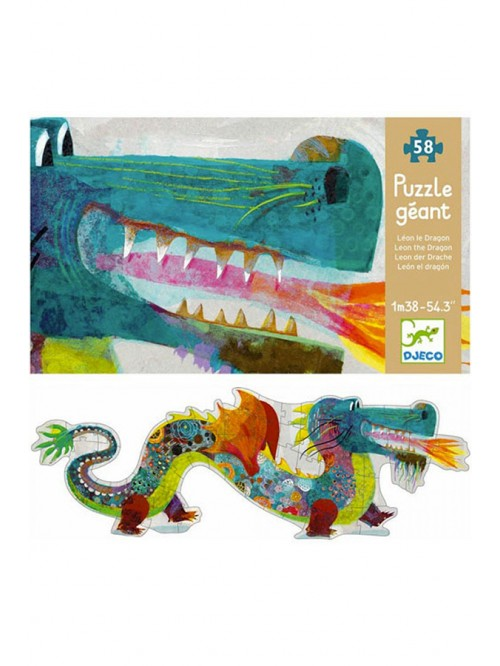 Puzzle gigant - Djeco - Dragonul Leon