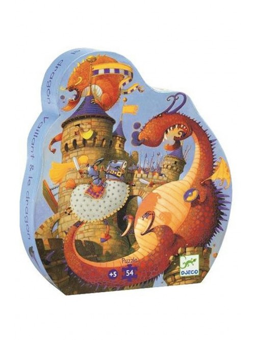 Puzzle - Djeco - Cavalerul si Dragonul
