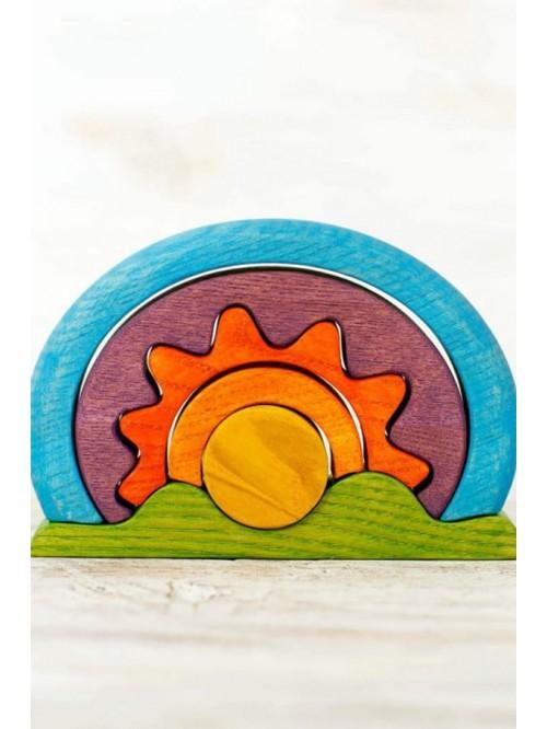 Jucărie de stivuit - Soare - Wooden Caterpillar