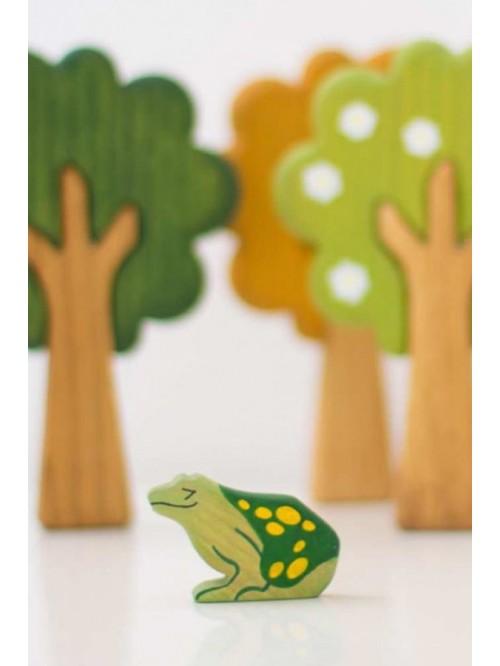 Figurină Broască - Wooden Caterpillar