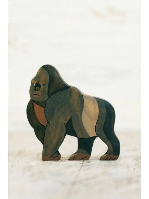 Figurină din lemn, lucrată manual - Gorilă - Wooden Caterpillar