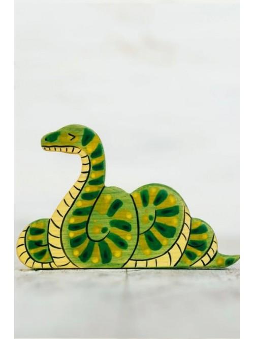 Figurină - Wooden Caterpillar - Șarpe