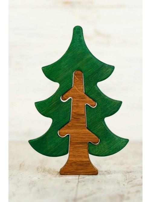 Copac Waldorf tip puzzle - Wooden Caterpillar - Brad