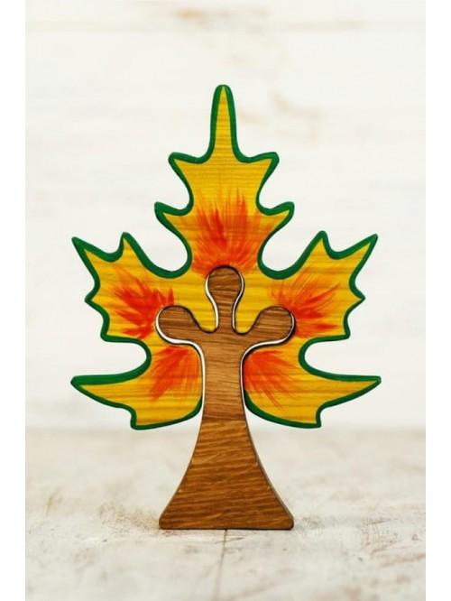 Copac Waldorf tip puzzle - Wooden Caterpillar - Arțar