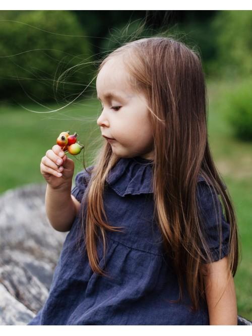 Rochie din in cu guler - La Petite Alice - Linen Ruffle Collar Dress