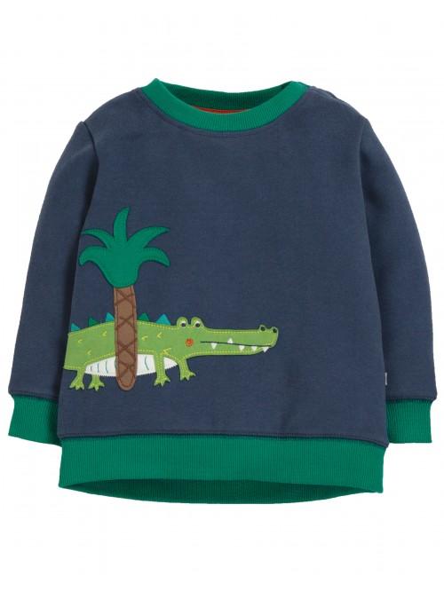 Bluza cu maneca lunga bumbac organic - Frugi - Space Blue/Croc